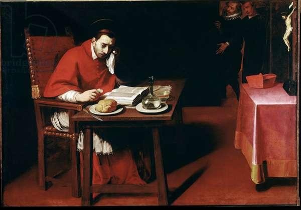 Representation of Charles Borromee (Carlo Borromeo) (1538-1584) Young Painting by Daniele Crespi (1597-1630) 17th century Milan Church Santa Maria della Passione