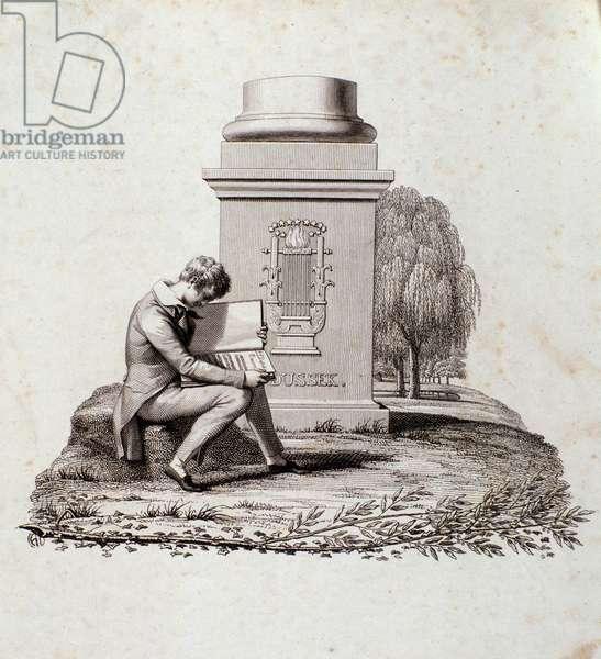 Funerary monument to Jan Ladislav  Dussek (engraving)