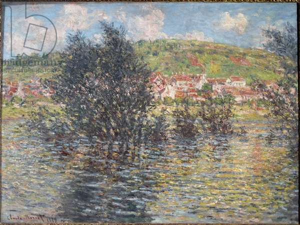 Vetheuil, seen from Lavacourt - Painting by Claude Monet (1840-1926), 1879 - Oil On canvas - Musee d'Orsay