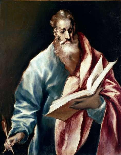 Apotre Saint Matthew. Painting by Domenikos Theotokopoulos dit El Greco (1540-1614), 1610-1614. Oil on canvas. Dim: 97x77cm. House and Musee El Greco, Toledo, Spain.