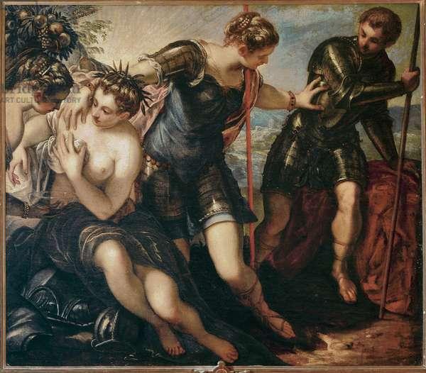 Minerva driving Mars away, c.1576 (oil on canvas)