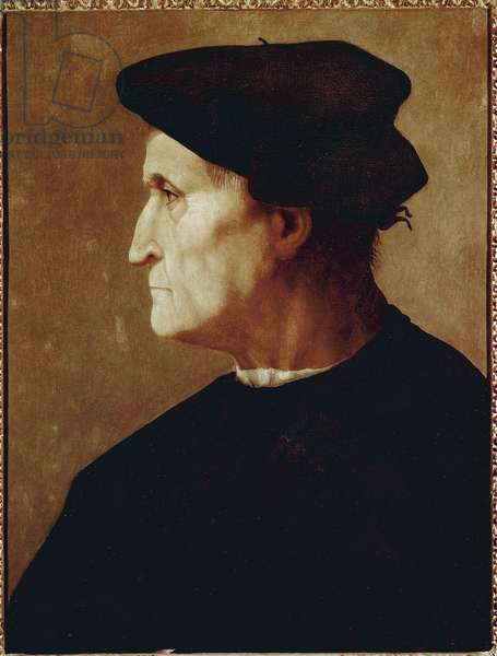 Portrait of Francesco da Castiglione (Florentine canon) (oil on wood, circa 1520)