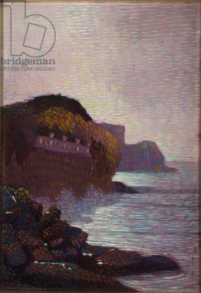 Marina or Cliff (Castle Raggio), 1916 (oil on board)