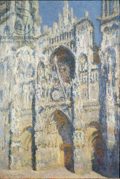 Cathedrale Notre-Dame de Rouen, the portal and the tower Saint Romain, full sun effect, blue harmony and gold Painting by Claude Monet (1840-1926) 1893 Sun. 1,06x0,73 m Paris, Musee d'Orsay.