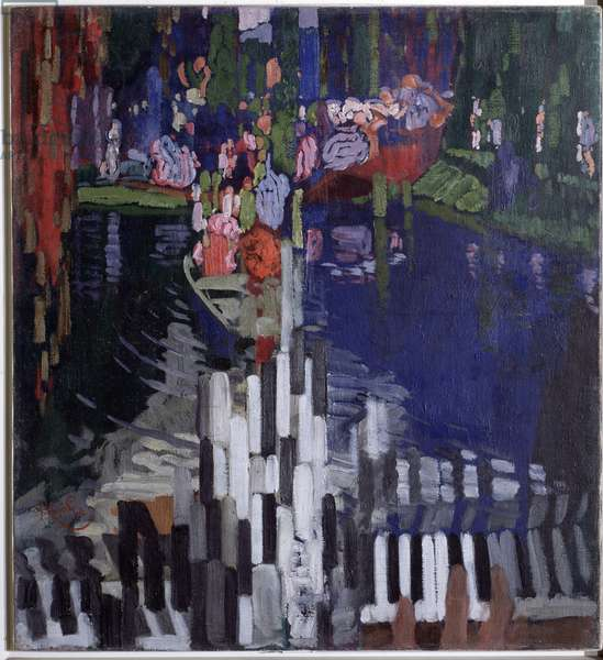 Piano keys Painting by Frantisek Kupka (1871-1957) 1909 Prague National Gallery