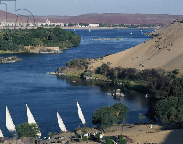View of the First Cataract of the Nile, Egypt (Cataracts of the Nile, Egypt)