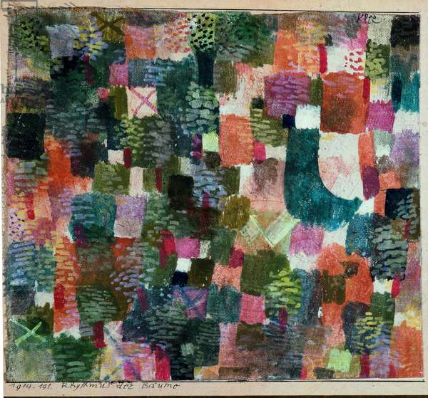 Rythmus der Baume (The Rhythm of Trees) Painting by Paul Klee (1879-1940) 1914 Geneva, Museum of Art and History, Centre Bruno Lussato d'Initiative à l'Art Moderne