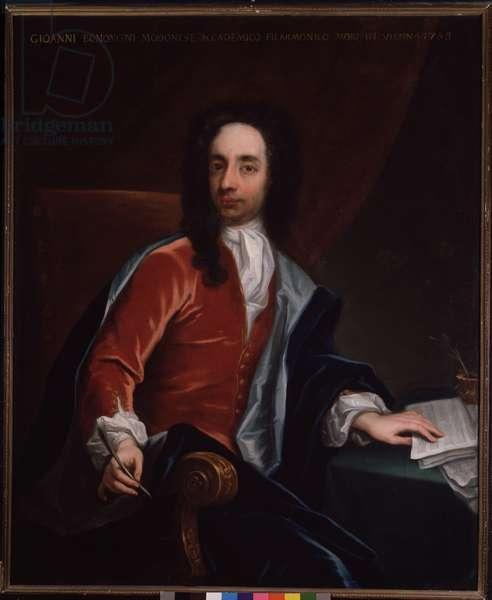 Portrait of Giovanni Battista Bononcini (1670-1747) Italian Baroque composer and cellist