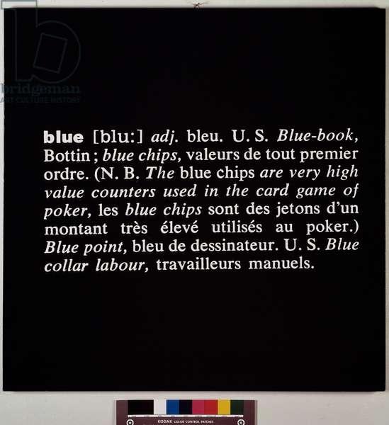 Blue (mixed technique, 1967)