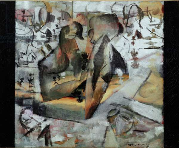 Chess Players Painting by Marcel Duchamp (1887-1968) Paris, Musee National d'Art Moderne Centre Georges Pompidou
