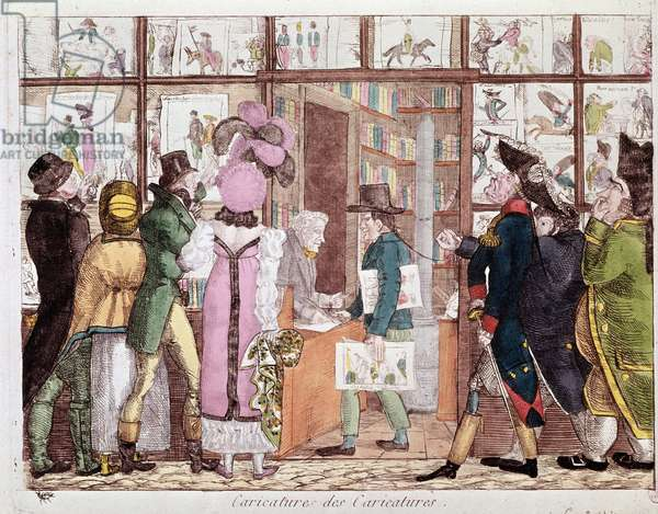 The prints market (lithography, 18th century)