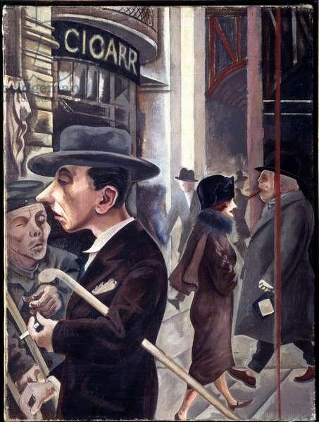 Street Scene: Berlin, Kurfurstendamm (Painting, 1925)