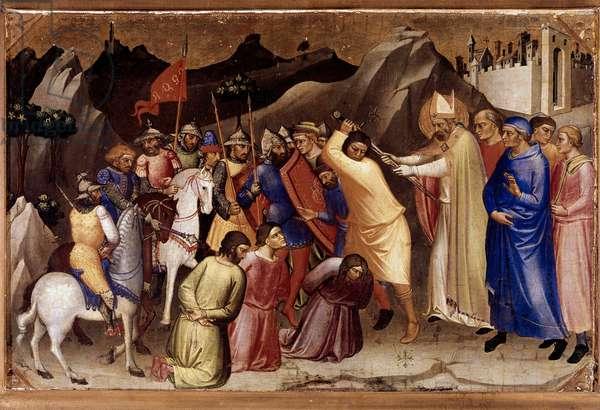 Saint Nicholas Saves Three Innocent Men (painting, 15th century)