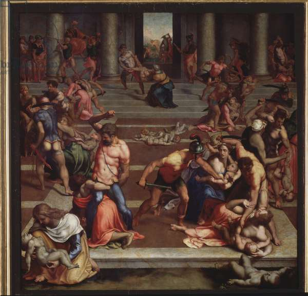 The massacre of the Innocents (Painting, 16th century)