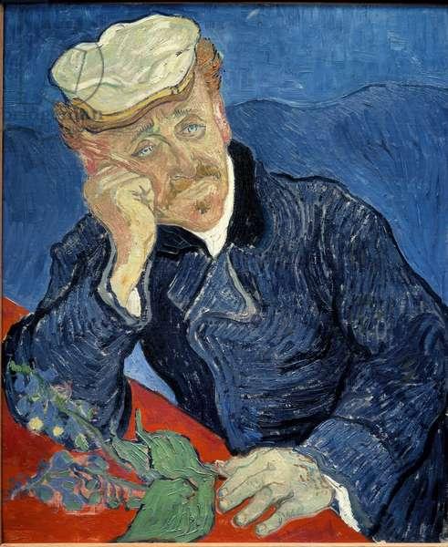 Portrait of Doctor Paul Gachet (1828-1909) Painting by Vincent van Gogh (1853-1890) 1890 Sun. 0,68x0,57 m Paris, musee d'Orsay