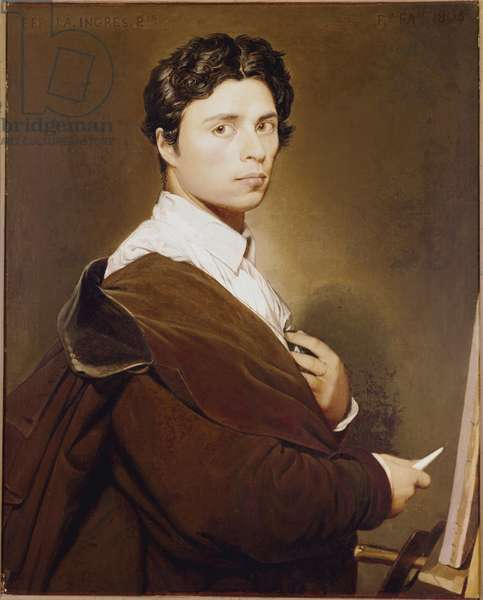 Self-Portrait at 24 Years - Painting by Jean Auguste Dominique Ingres (1780-1867) Oil on canvas, 1804 Dim. 0,77x0,61 m Chantilly, Musee Conde