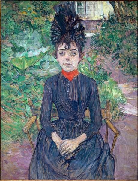 Portrait of Justine Dieuhl Painting by Henri de Toulouse Lautrec (1864-1901) 1891 Sun. 0,74x0,58 m Paris, musee d'Orsay
