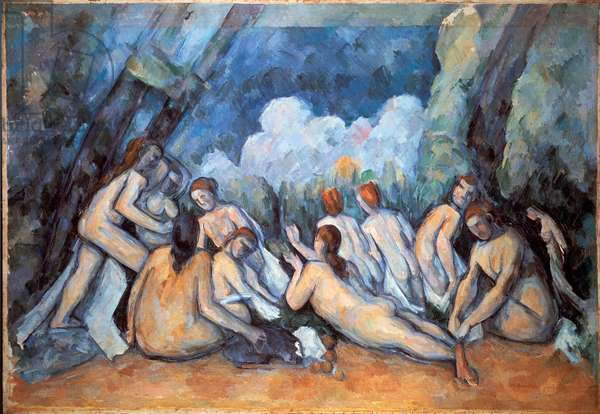 The Great Bathers Painting by Paul Cezanne (1839-1906) 1898-1905 Sun. 130x193 cm London, National Gallery