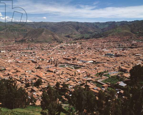 Panoramic view of the city of Cuzco, Peru 1983 - Panoramic view of the city of Cuzco, Peru 1983