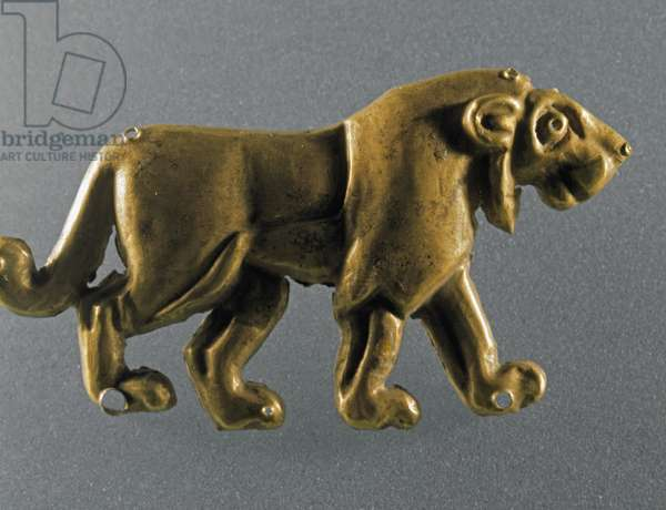 Lion statuette in gold leaves from the Maykop kurgan, 3000-2500 BC