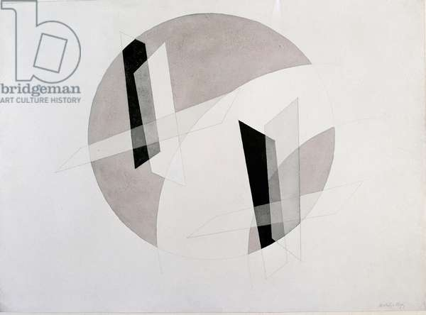 Untitled Mixed Media by Laszlo Moholy-Nagy (Moholy Nagy) (1895-1946) New York, Museum of Modern Art