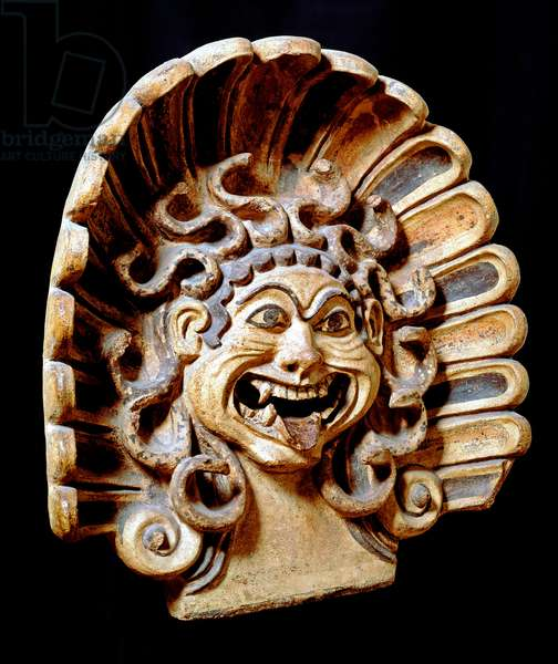 Antefix in the form of the head of Medusa (terracotta)