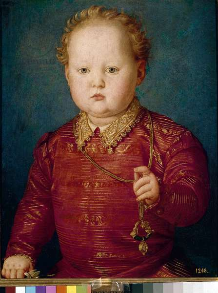 Portrait of Garcia de Medici as a child (oil on panel, c.1550)
