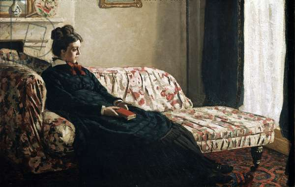 Meditation or Madame Monet in the canape (oil on canvas, 1871)