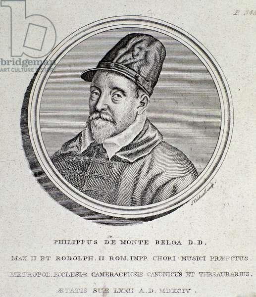 Portrait of Philippe de Monte (engraving, 1594)