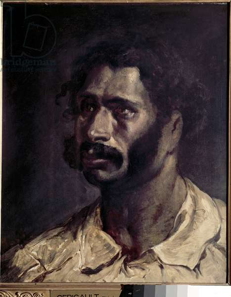 Portrait of Man (presume of the carpenter of the Meduse) - Painting by Theodore Gericault (1791-1824), oil on canvas, 46x36 cm. Rouen, Museum of Fine Arts