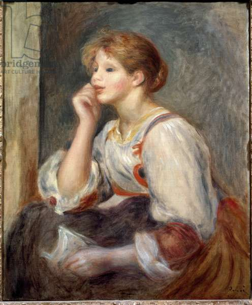 Woman with a letter, 1895 (oil on canvas)