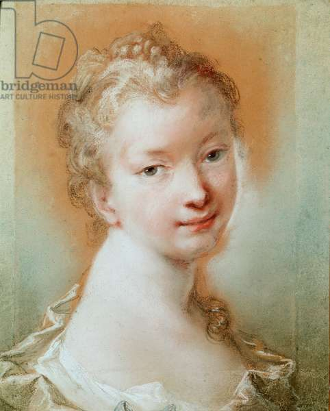 Portrait of a young girl Pastel by Rosalba Carriera (1675-1757) 18th century Paris, Louvre Museum