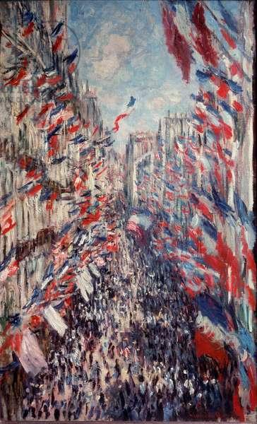 Rue Montorgueil in Paris, 1878 (oil on canvas)