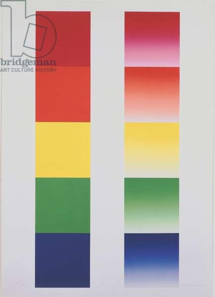 Pentacromogramma, 1975-1977 (serigraphy)