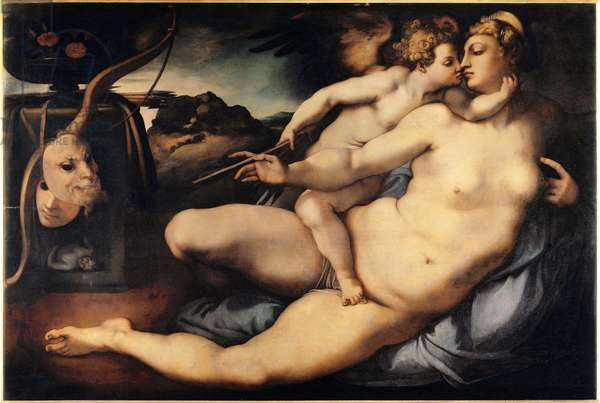 Venus and Cupid (Venus and Cupid) Painting by Jacopo Carrucci dit il Pontormo (Pontormo) (1494-1556) 1532-1534 Dim 128x197 cm Florence, Galleria dell'accademia Italy