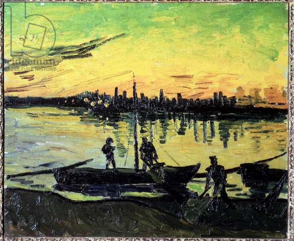 The dockers of Arles. Painting by Vincent VAN GOGH (1853-1890), 1888 Oil on canvas Madrid, Thyssen-Bornemisza Museum of Art.