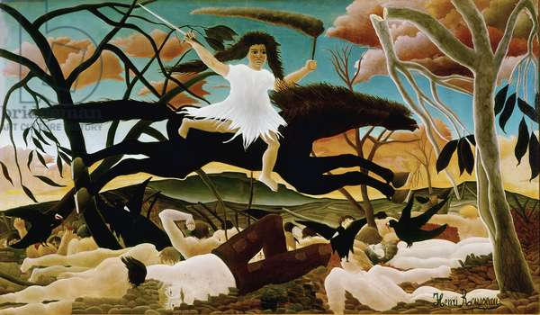 War or the Ride of Discord Painting by Henri Rousseau called Le Douanier Rousseau (1844-1910). 1894. Sun 114x195 Paris, Musée d'Orsay