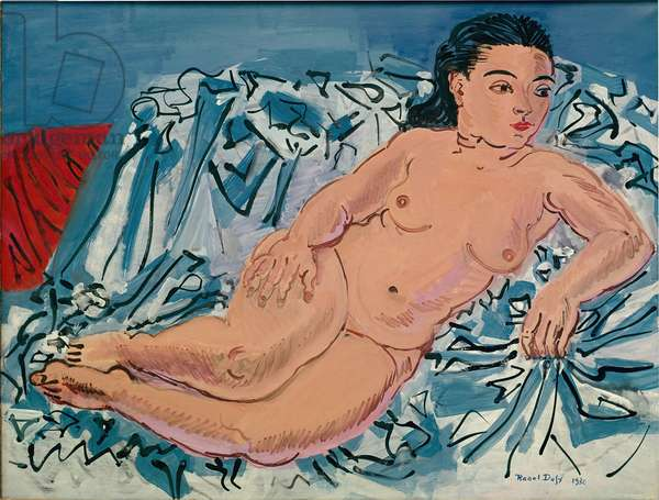 Naked Woman Painting by Raoul Dufy (1877-1953) 1930 Private Collection