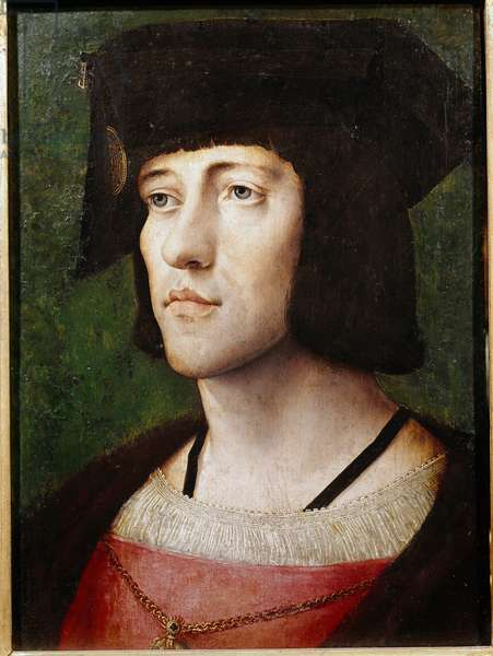 Portrait of a knight of the Order of the Golden Fleece Painting of the Flemish school of the 15th or 16th century. Lisbon, Museum of Ancient Art
