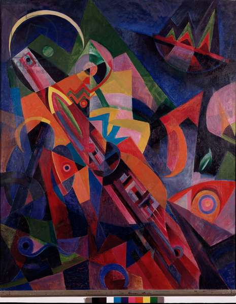 La last garde Painting by Johannes Itten (1888-1967) 1918 Dim. 110,5x135,5 cm Turin, Civica Galleria d 'Arte Moderna e Contemporanea