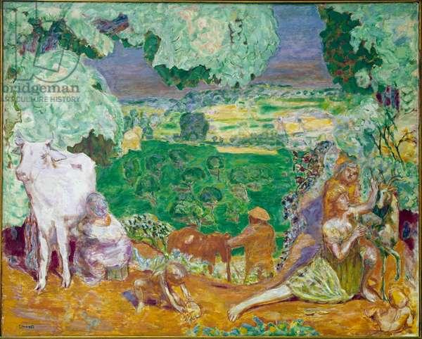 Pastoral symphony (oil on canvas, 1916-1920)