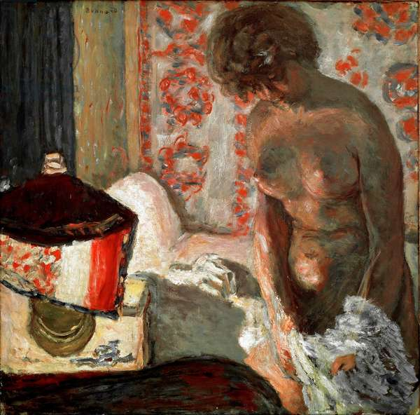 Nude à la lamp Painting by Pierre Bonnard (1867-1947) 1910-1911 Dim. 75,5x75 cm Bern, Collection Hans R. Hahnloser