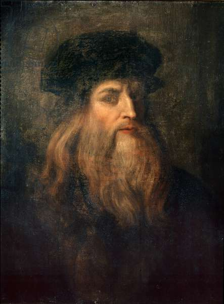 Presumed Self-portrait of Leonardo da Vinci, 1490-1500