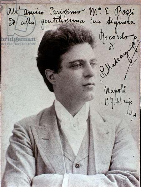 Portrait of Pietro Mascagni (1863-1945) italian composer