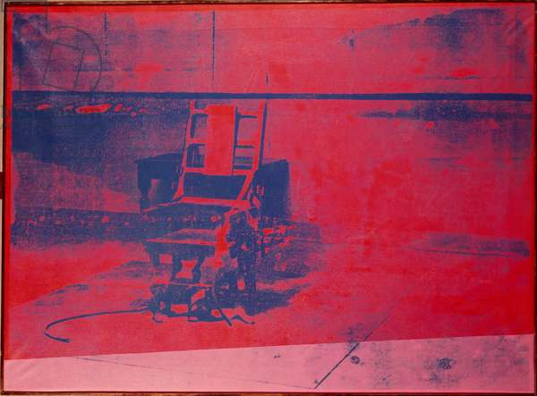 The electric chair Serigraphie by Andy Warhol (1930-1987) 1966 Dim. 137x185 cm Paris, Musee National d'Art Moderne (Centre Pompidou)