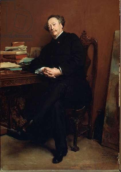 Portrait of Alexandre Dumas Jr. in 1877 (painting)