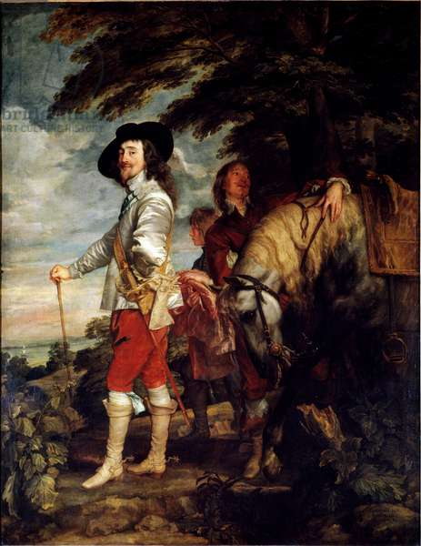 Full lenght opoportrait of Charles I of England, also known as the king on the hunt, c. 1635 (oil on canvas)