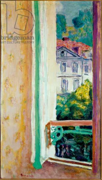 Open window in Uriage Painting by Pierre Bonnard (1867-1947) Milan, Jesi Collection