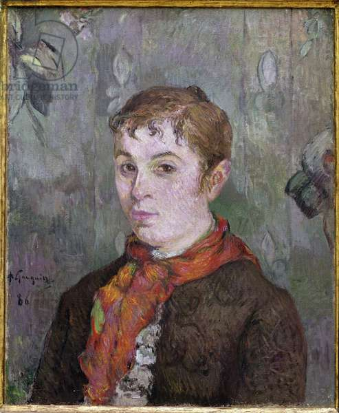 Bust of Woman Painting by Paul Gauguin (1848-1903) 1886 Dim 53,5x44 cm Private collection