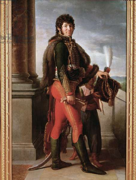 Portrait of Joachim Murat in hussar uniform, detail (oil on canvas, 1801)